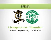 Pronóstico Livingston Hibernian (08 agosto 2020)