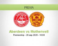 Pronóstico Aberdeen Motherwell (20 septiembre 2020)