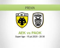 Pronóstico AEK Atenas PAOK (15 julio 2020)