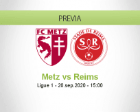 Pronóstico Metz Reims (20 septiembre 2020)