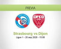 Pronóstico Strasbourg Dijon (20 septiembre 2020)