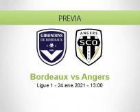 Pronóstico Bordeaux Angers (24 enero 2021)
