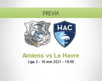 Pronóstico Amiens Le Havre (16 enero 2021)