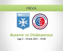 Pronóstico Auxerre Châteauroux (16 enero 2021)