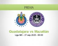 Pronóstico Guadalajara Mazatlán (26 septiembre 2020)