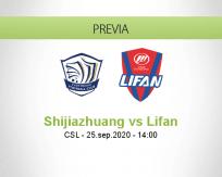 Pronóstico Shijiazhuang Ever Bright Chongqing Dangdai Lifan (25 septiembre 2020)