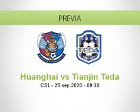 Pronóstico Qingdao Huanghai Tianjin Teda (25 septiembre 2020)