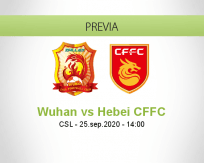 Pronóstico Wuhan Zall Hebei CFFC (25 septiembre 2020)