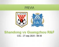 Pronóstico Shandong Luneng Guangzhou R&F (27 septiembre 2020)