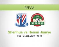 Pronóstico Shanghai Shenhua Henan Jianye (27 septiembre 2020)