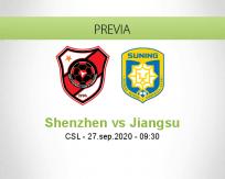 Pronóstico Shenzhen Jiangsu Suning (27 septiembre 2020)