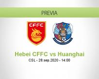 Pronóstico Hebei CFFC Qingdao Huanghai (28 septiembre 2020)