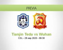 Pronóstico Tianjin Teda Wuhan Zall (28 septiembre 2020)