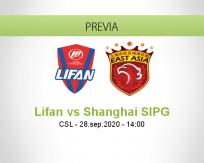 Pronóstico Chongqing Dangdai Lifan Shanghai SIPG (28 septiembre 2020)