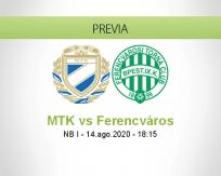 Pronóstico MTK Ferencváros (14 agosto 2020)