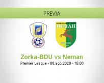 Pronóstico Zorka-BDU Neman Grodno (08 agosto 2020)
