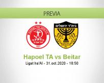 Pronóstico Hapoel Tel Aviv Beitar Jerusalem (31 octubre 2020)