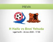 Pronóstico H Haifa Bnei Yehuda (24 noviembre 2020)