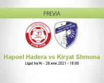 Pronóstico Hapoel Hadera Kiryat Shmona (28 enero 2021)