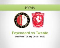 Pronóstico Feyenoord Twente (20 septiembre 2020)