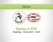 Pronóstico Sparta PSV (16 enero 2021)