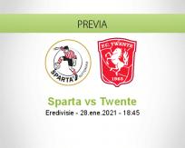 Pronóstico Sparta Twente (28 enero 2021)
