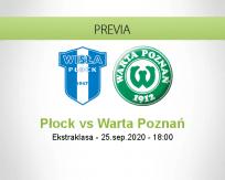 Pronóstico Wisła Płock Warta Poznań (25 septiembre 2020)