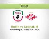 Pronóstico Rubin Kazan Spartak Moskva (20 septiembre 2020)