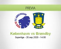 Pronóstico København Brøndby (20 septiembre 2020)