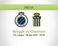 Pronóstico Brujas Sporting Charleroi (08 agosto 2020)