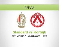 Pronóstico Standard Liège Kortrijk (20 septiembre 2020)