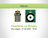 Pronóstico Sporting Charleroi Cercle Brugge (31 octubre 2020)