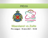 Pronóstico Waasland Zulte (16 enero 2021)