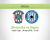 Pronóstico Zbrojovka Brno Sigma Olomouc (20 septiembre 2020)