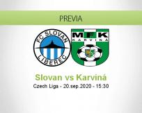 Pronóstico Slovan Liberec Karviná (20 septiembre 2020)