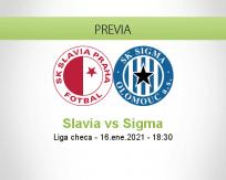 Pronóstico Slavia Sigma (16 enero 2021)