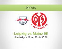 Pronóstico RB Leipzig Mainz 05 (20 septiembre 2020)