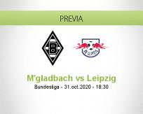 Pronóstico Borussia M'gladbach RB Leipzig (31 octubre 2020)
