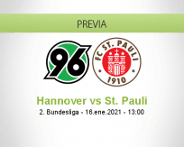 Pronóstico Hannover St. Pauli (16 enero 2021)