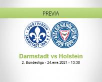 Pronóstico Darmstadt Holstein (24 enero 2021)