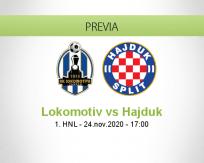 Pronóstico Lokomotiv Hajduk (24 noviembre 2020)