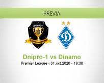 Pronóstico Dnipro-1 Dynamo Kyiv (31 octubre 2020)