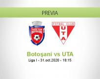 Pronóstico Botoşani UTA Arad (31 octubre 2020)