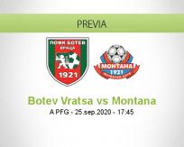 Pronóstico Botev Vratsa Montana (25 septiembre 2020)