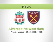 Pronóstico Liverpool West Ham United (31 octubre 2020)
