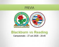 Pronóstico Blackburn Rovers Reading (27 octubre 2020)