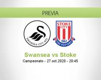 Pronóstico Swansea City Stoke City (27 octubre 2020)