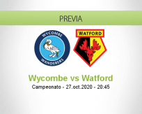 Pronóstico Wycombe Wanderers Watford (27 octubre 2020)