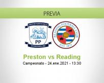 Pronóstico Preston Reading (24 enero 2021)