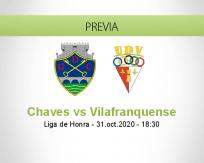 Pronóstico Chaves Vilafranquense (31 octubre 2020)